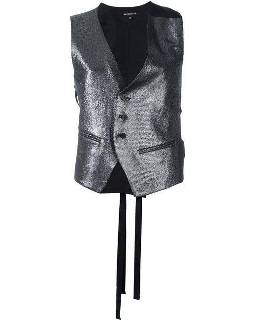 Ann Demeulemeester | Black Metallic Waistcoat | Lyst