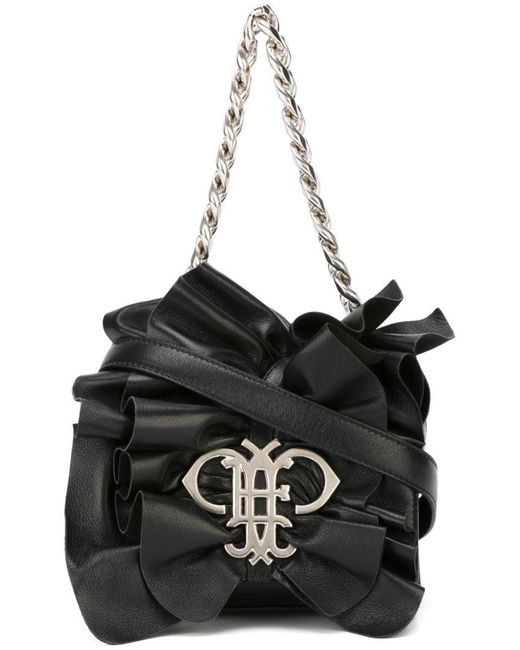 Emilio Pucci | Black Ruffled Shoulder Bag | Lyst