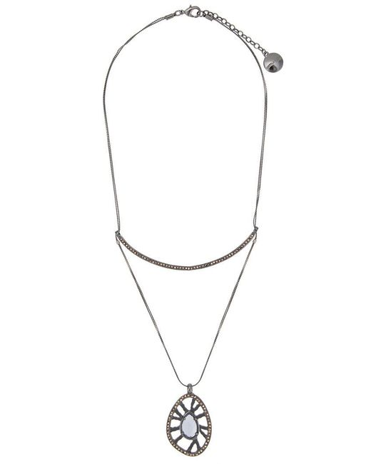 Camila Klein - Metallic Pendant Necklace - Lyst