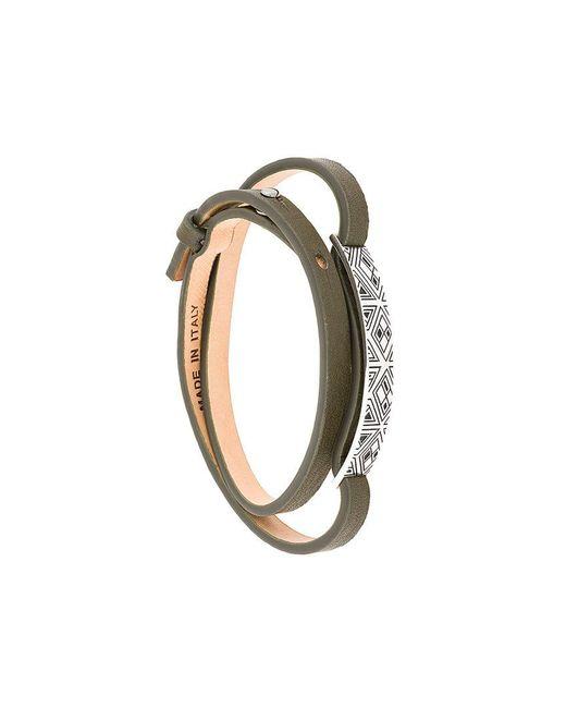 Northskull - Green Woto Tag Bracelet for Men - Lyst
