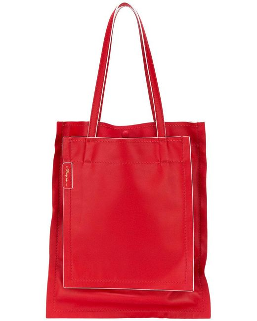 3.1 Phillip Lim - Red Accordion Shopper Tote - Lyst