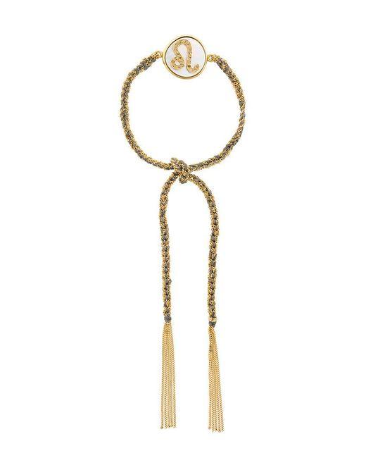 Carolina Bucci - Metallic Tassel Bracelet With Zodiac Charm - Lyst