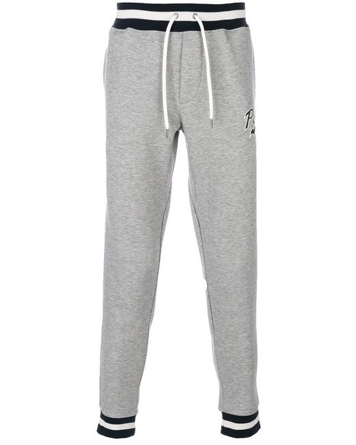 Polo Ralph Lauren | Gray Striped Waistband Sweatpants for Men | Lyst