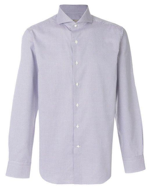 Canali | Blue Modern Fit Shirt for Men | Lyst