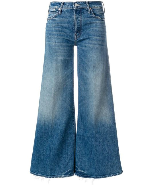Mother - Blue The Stunner Roller High Waist Cropped Flare Jeans - Lyst