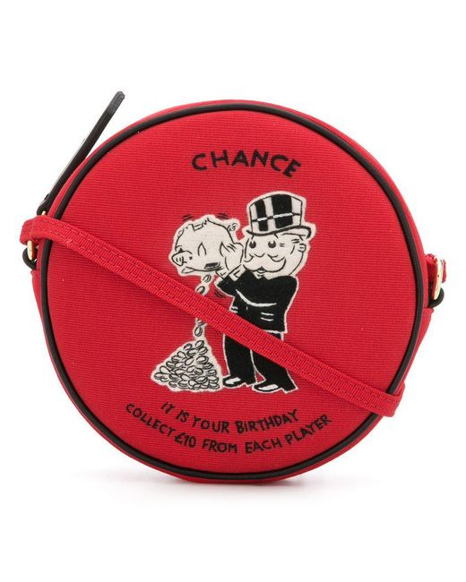 Olympia Le-Tan - Red Monopoly Chance Crossbody Bag - Lyst