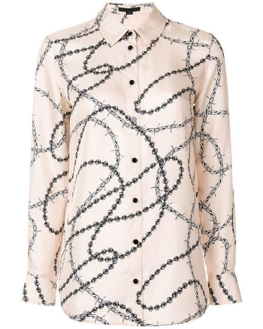Alexander Wang - Multicolor Barbed Wire Print Shirt - Lyst