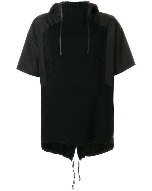 Les Hommes - Black Short-sleeve Hooded Sweatshirt for Men - Lyst