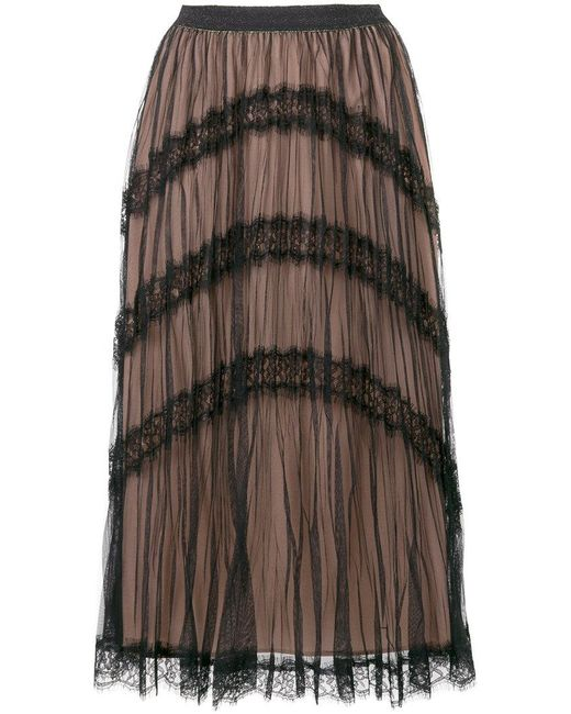 Twin Set | Black Tulle Layer Skirt | Lyst