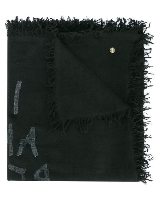 Ann Demeulemeester - Black I Am Red With Love Scarf for Men - Lyst