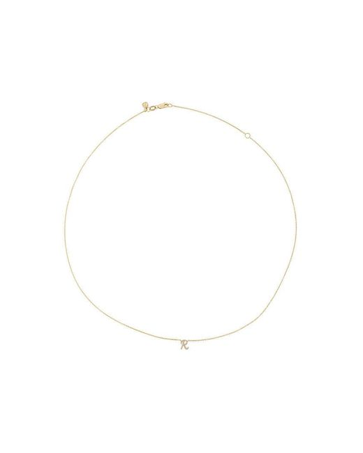 Sydney Evan | Metallic Diamond R Necklace | Lyst