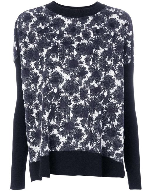 Marni | Blue Abstract Floral Sweater | Lyst