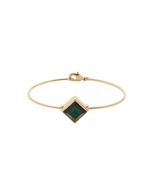 Fendi - Metallic Square Detail Bracelet - Lyst