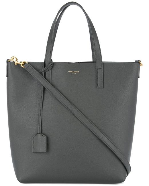 Saint Laurent - Gray Shopping Tote - Lyst