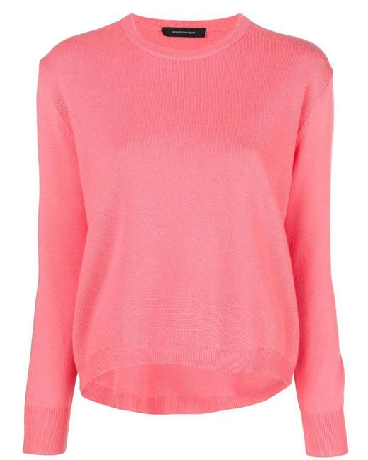 Cedric Charlier - Pink Crew Neck Sweater - Lyst