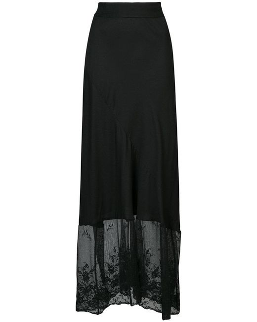 Ann Demeulemeester - Black Lace Embellished Skirt - Lyst