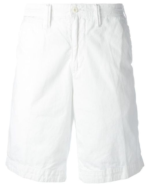 Polo Ralph Lauren | White Embroidered Logo Chino Shorts for Men | Lyst