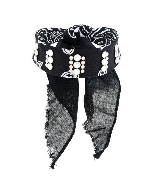 DANNIJO - Black Rocka Studded Bandana Choker - Lyst