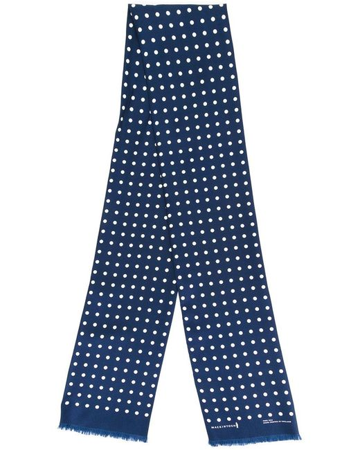 Mackintosh - Blue Polka Dot Scarf - Lyst