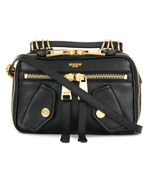 Moschino | Black Biker Shoulder Bag | Lyst