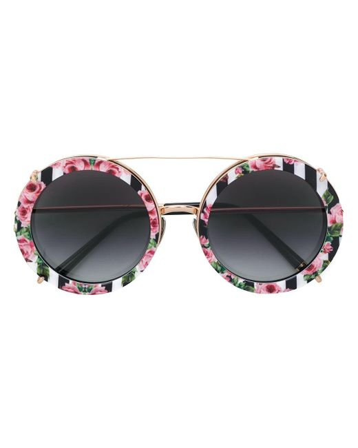 53fd5fe42708 ... Dolce   Gabbana - Metallic Limited Edition Clip-on Round Sunglasses ...