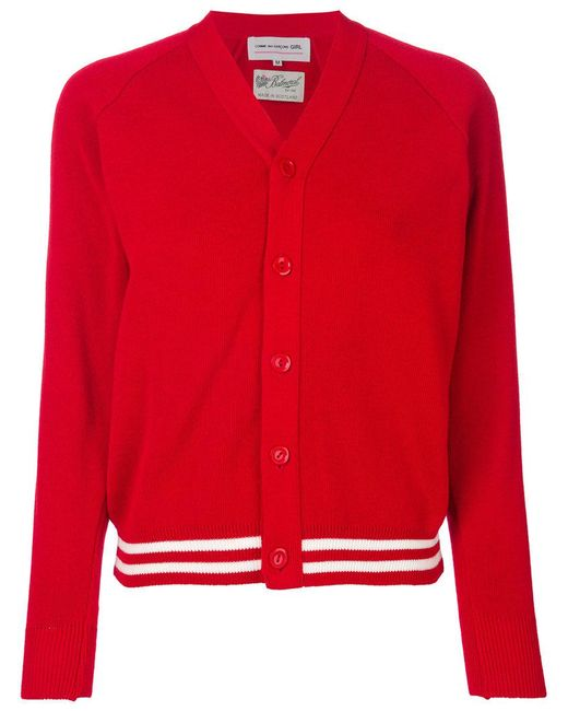 Comme des Garçons - Red Stripe Detail Cardigan - Lyst