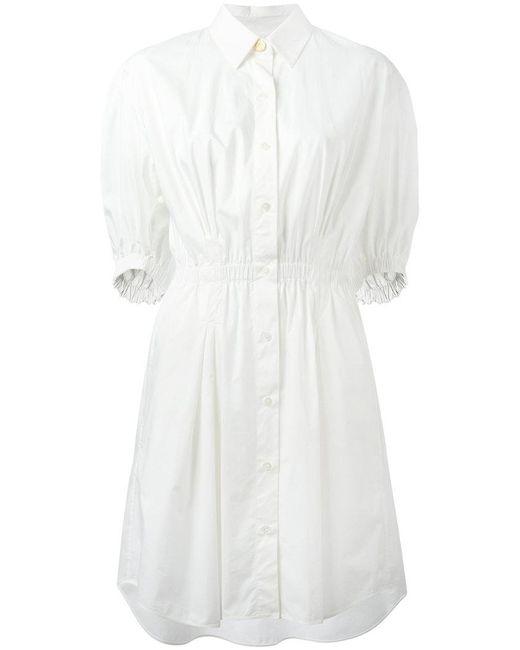 Sonia Rykiel - White Elasticated Waistband Shirt Dress - Lyst
