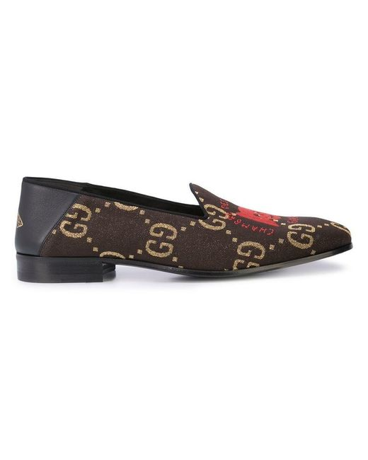c5ada4251c5 Gucci - Black Chambre Des Squelettes Loafers for Men - Lyst ...