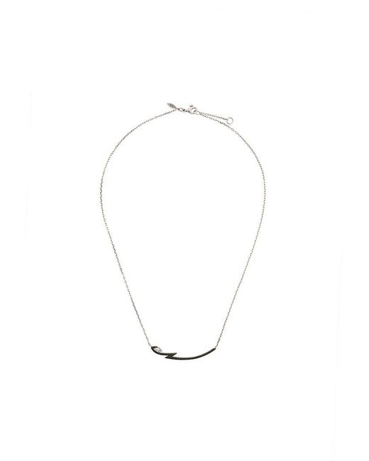 Stephen Webster - Metallic 18kt White Gold Lady Stardust Marquise Diamond Pendant Necklace - Lyst