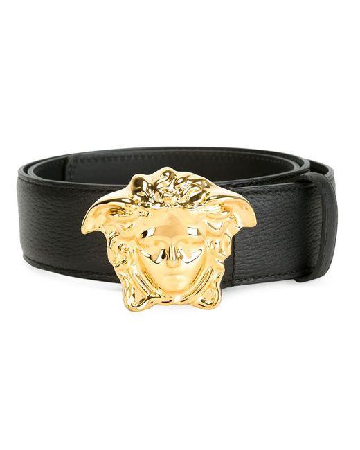 Versace   Black 'palazzo Medusa' Studded Belt   Lyst