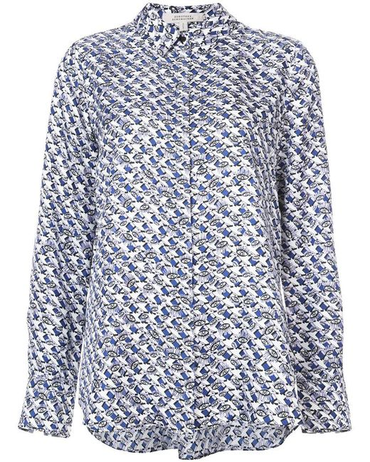 Dorothee Schumacher - Blue Patterned Shirt - Lyst