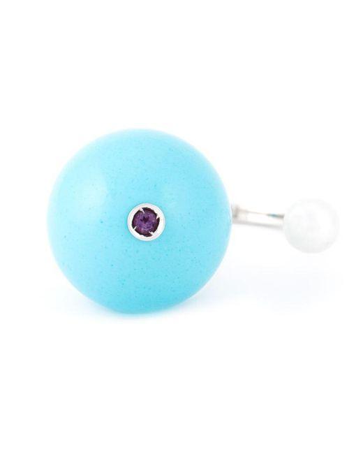Delfina Delettrez - Blue 'stone-edge Piercing' Ring - Lyst