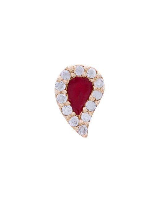 Alison Lou Metallic Blood Drop Stud Earrings