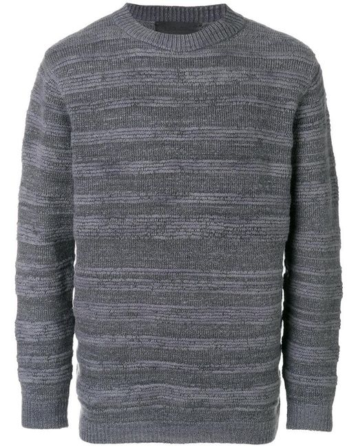 The Elder Statesman - Gray Striped Jumper for Men - Lyst