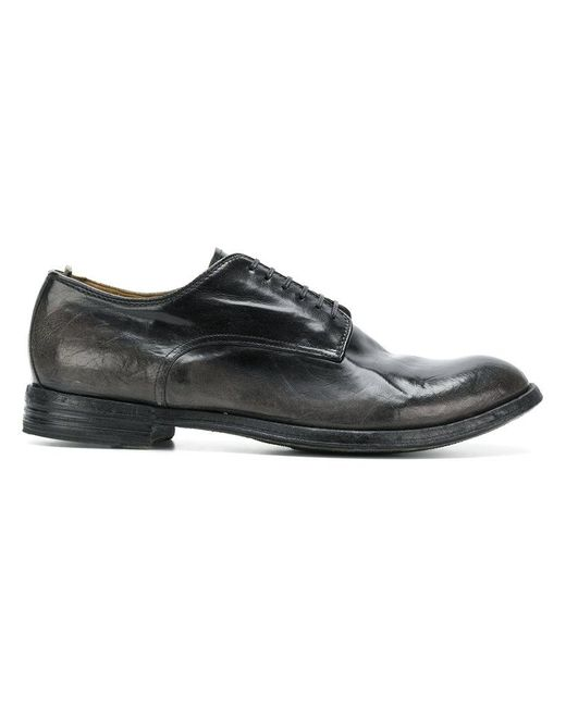 Officine Creative - Black Anatomia Lace-up Shoes for Men - Lyst