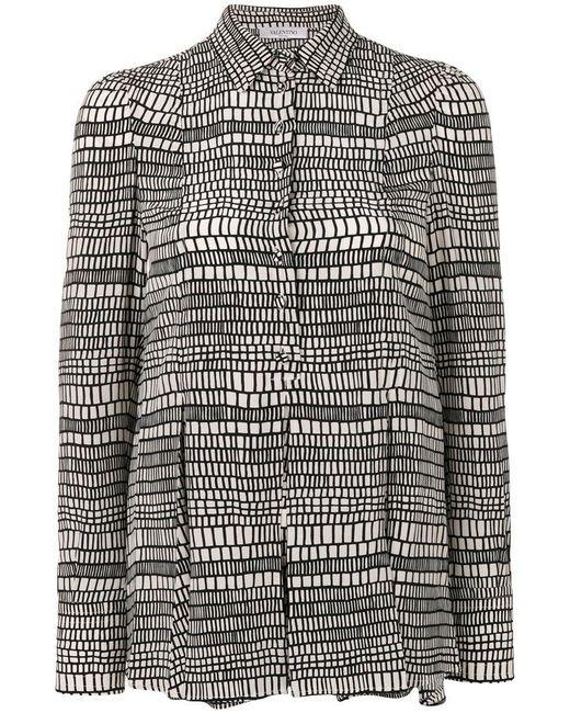 Valentino - White Geometric Print Shirt - Lyst