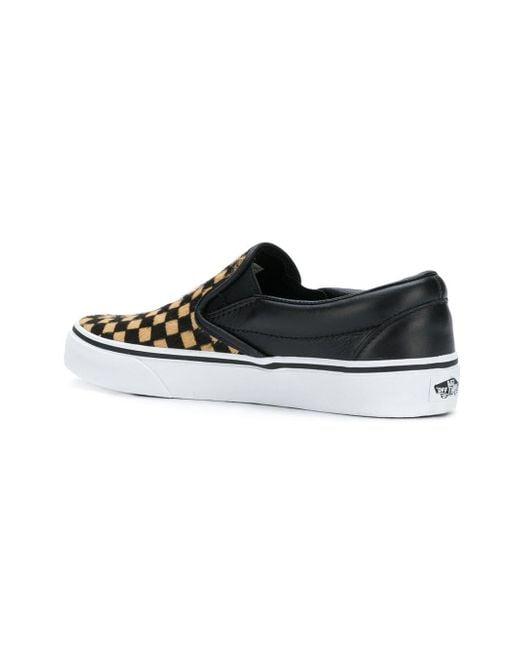 1029b80839 Vans Checkerboard Classic Sneakers in Black - Save 57% - Lyst