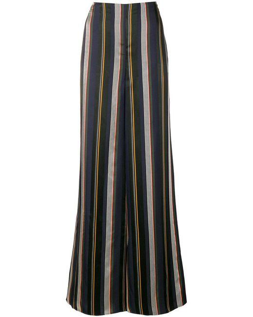 Roksanda - Black Striped Flared Trousers - Lyst