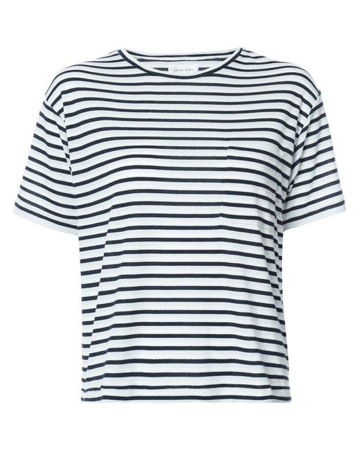 Anine bing Striped T-shirt in Blue
