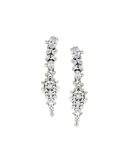 Iosselliani - 'white Eclipse Memento' Earrings - Lyst