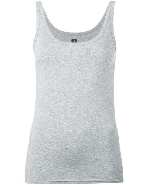 Eleventy | Gray Scoop Neck Vest | Lyst