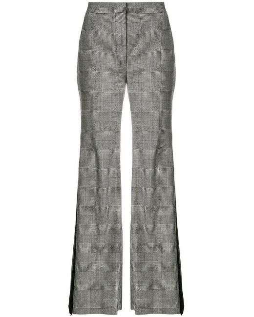 Sara Battaglia - Black Checked Flared Trousers - Lyst