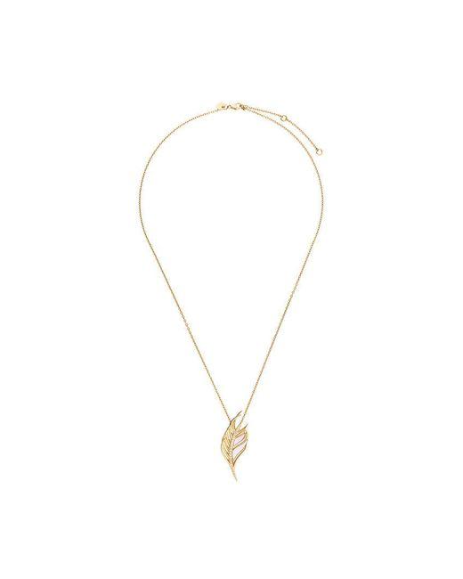 Shaun Leane - Metallic White Feather Diamond Necklace - Lyst