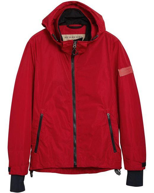 Burberry - Red Lightweight Jacket for Men - Lyst
