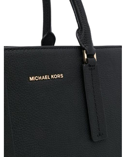 0b3358b35b47 ... MICHAEL Michael Kors - Black Alessa Tote Bag - Lyst