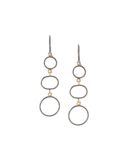 Melissa Joy Manning - Gray Three Circle Drop Earrings - Lyst