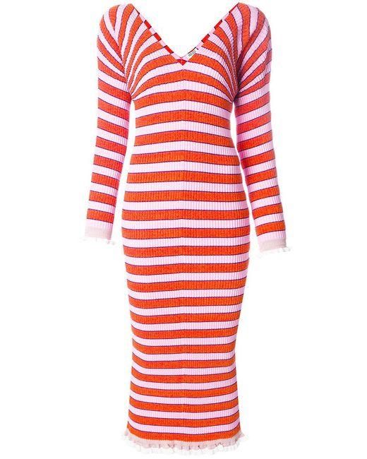 KENZO | Red Striped Sweater Dress | Lyst