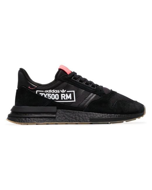 Lyst - adidas Black And Bluebird Zx 500 Rm Sneakers in Black for Men 602255d5c