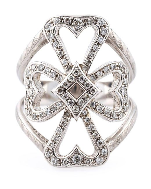 Loree Rodkin | Metallic Diamond Maltese Cross Midi Ring | Lyst