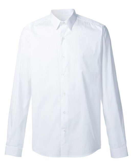 AMI - White Classic Collar Shirt for Men - Lyst